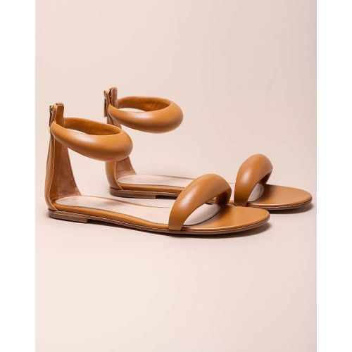 Achat Nappa leather flat sandals with zipper - Jacques-loup