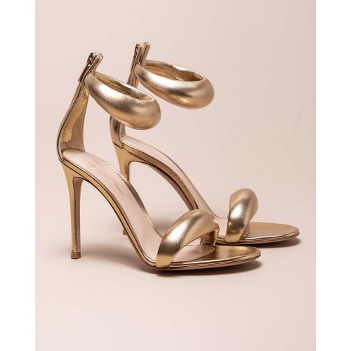 Achat High-heeled nappa leather sandals with zipper - Jacques-loup