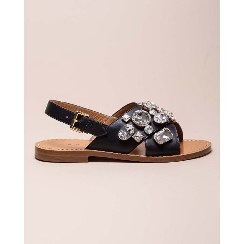 Achat Flat leather sandals with... - Jacques-loup
