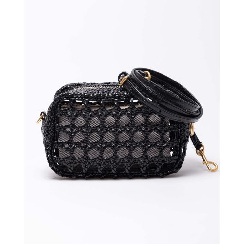 Achat Perry Bombe - Small leather plaited square bag - Jacques-loup