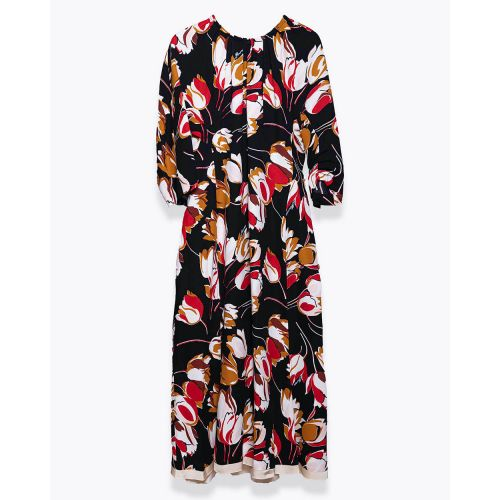 Achat Viscose and crepe dress with round neckline SS - Jacques-loup