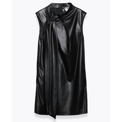 Achat Short leather dress with knotted collar - Jacques-loup