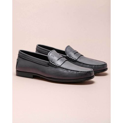 Achat Nuovo Citta - Patina leather moccasins with decorative tab - Jacques-loup