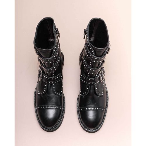 Achat Jessee - Leather low boots with small pearls - Jacques-loup