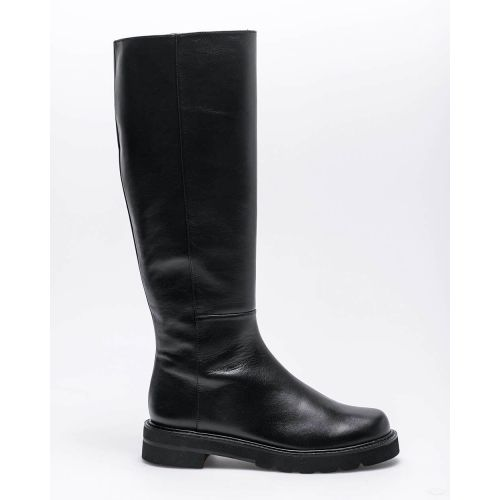 Achat Mila - Leather flat high boots with round tip 35 - Jacques-loup