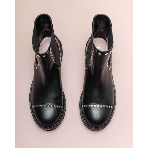 Achat Frankie - Leather low boots with flat nails 35 - Jacques-loup