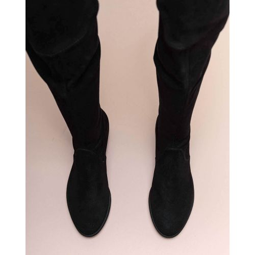 Achat Lowland - Stretch suede over the knee boots with knot 30 - Jacques-loup