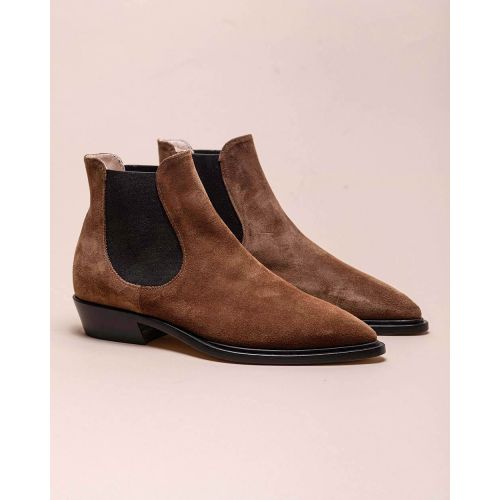 Achat Split leather low boots with pointed tip 30 - Jacques-loup