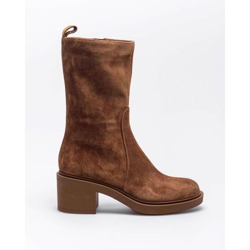 Achat Suede boots with round tip 45 - Jacques-loup