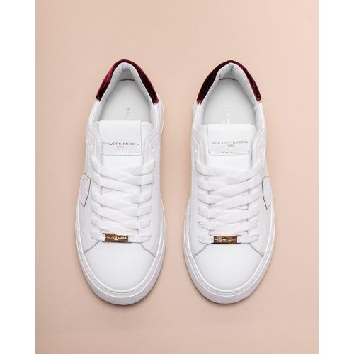 Achat Temple - Leather and velvet sneakers with round toe - Jacques-loup