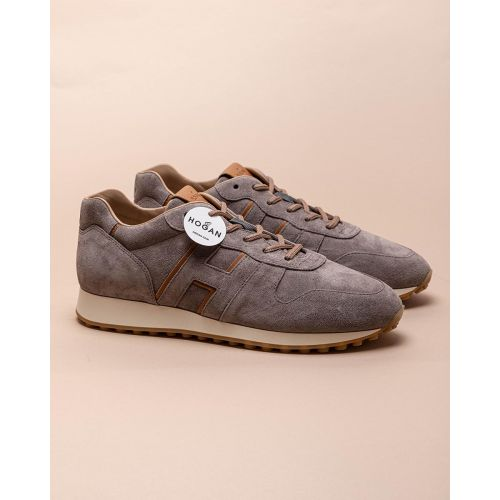 Achat Running - Leather and suede sneakers with iconic H - Jacques-loup