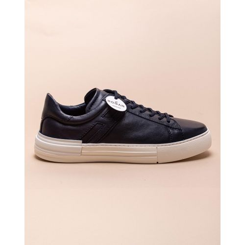 Achat Rebel - Aged leather sneakers with iconic H - Jacques-loup