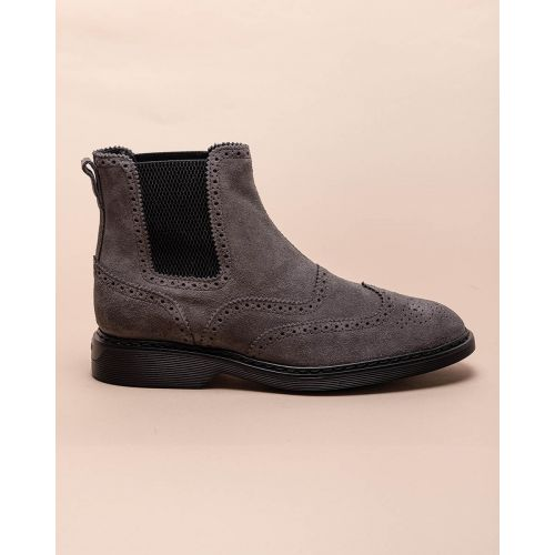 Achat Nouvelle Route - Suede boots with flowered toe - Jacques-loup