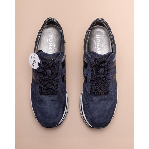 Achat Midi - Leather and suede sneakers with metallized H 60 - Jacques-loup
