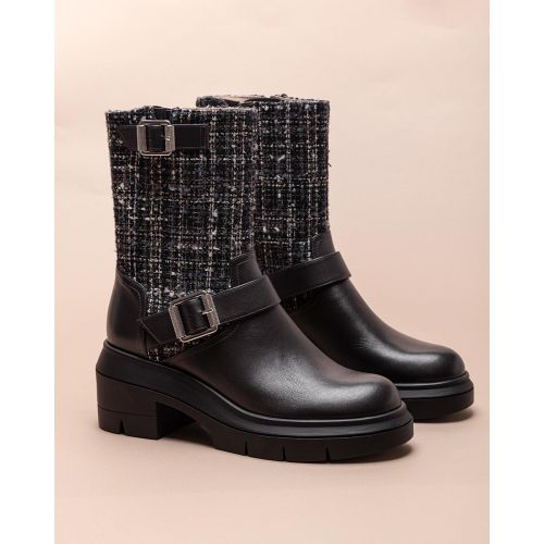 Achat Tweed and leather boots with buckles 65 - Jacques-loup