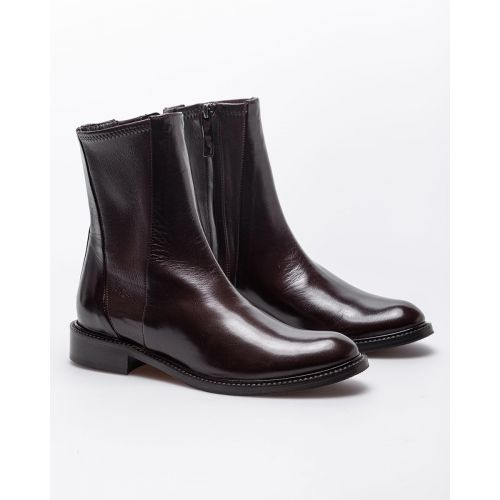 Achat Leather low boots with round toe 20 - Jacques-loup