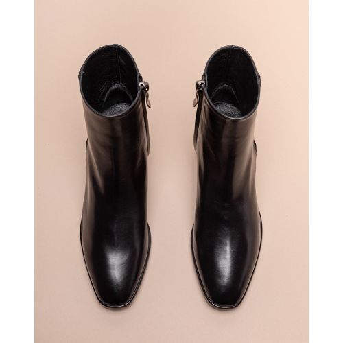 Achat Leather low boots with round toe 45 - Jacques-loup