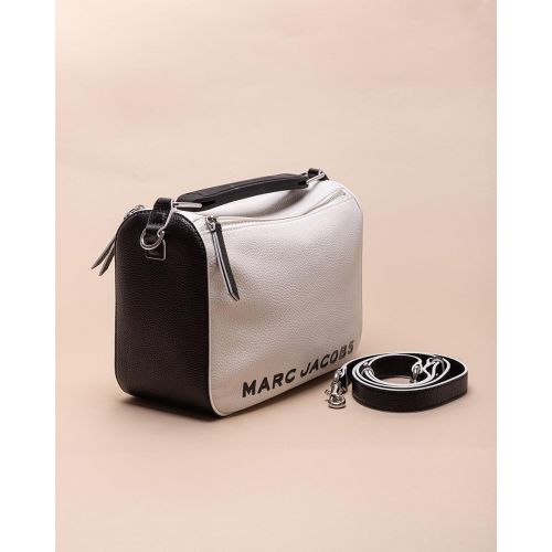 Achat Soft Box - Grained leather bag with rubber handles - Jacques-loup