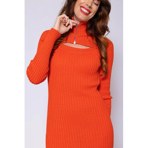 Achat Wool long dress with almond shaped neckline LS - Jacques-loup