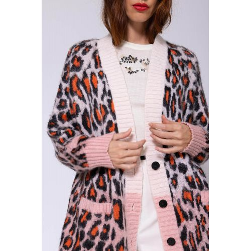 Achat Mohair and acrylic cardigan with leopard print LS - Jacques-loup