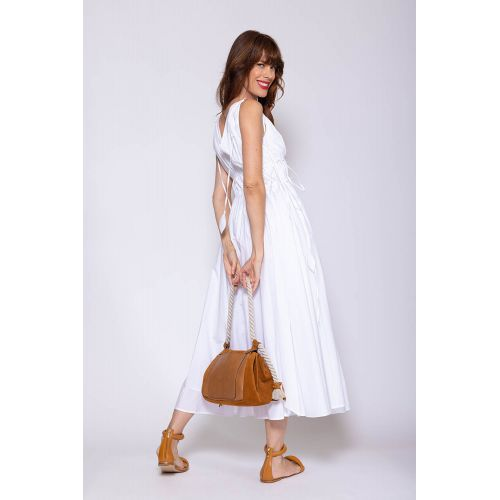 Achat Poplin cotton sleeveless dress with frowns - Jacques-loup