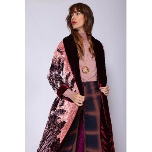 Achat Quilted viscose and silk coat with belt - Jacques-loup