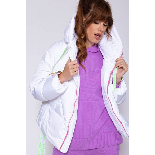Achat Iconic - Oversized polyester puffy jacket with goose down LS - Jacques-loup