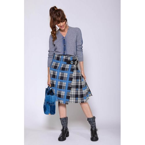 Achat Wool and crepe Scottish kilt with belt - Jacques-loup