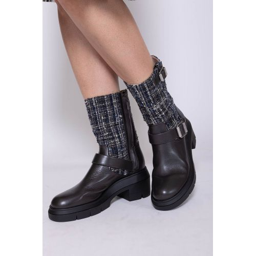 Achat Ryder Rise - Tweed and leather boots with buckles 65 - Jacques-loup