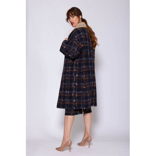 Achat Oversized cotton coat with rhinestones LS - Jacques-loup