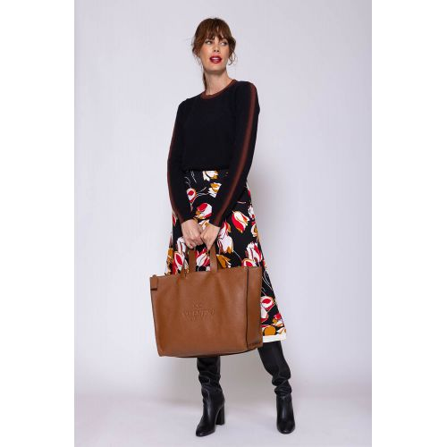 Achat Viscose and crepe skirt with print - Jacques-loup