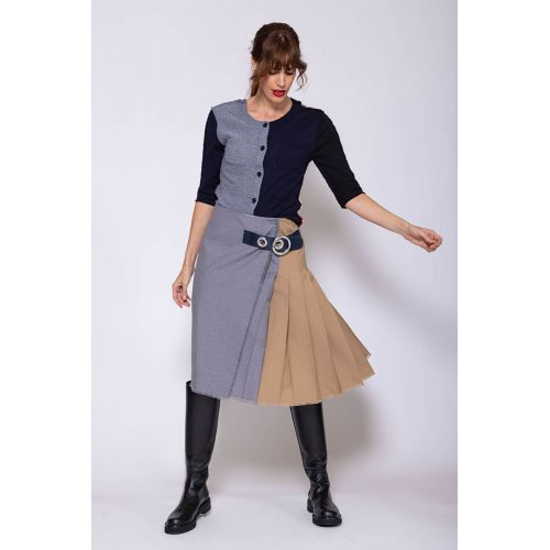 Achat Wool kilt skirt with belt - Jacques-loup