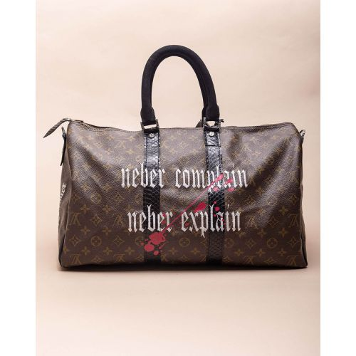 Achat Scrooge - Customized bag with silver and python details 45 cm - Jacques-loup