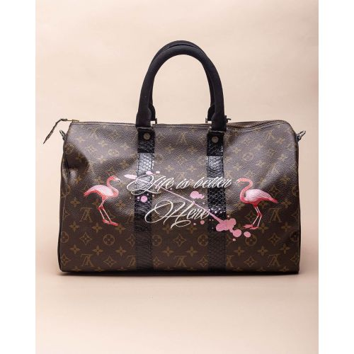 Achat Life is Better - Customized bag with silver and python details 40 cm - Jacques-loup