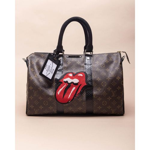 Achat Stones Tongue - Customized bag with silver and python details 40 cm - Jacques-loup