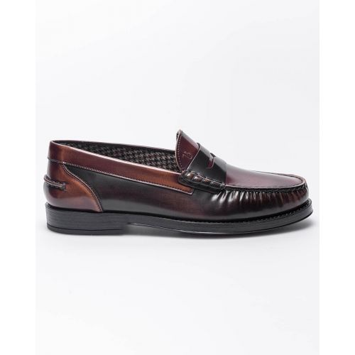 Achat College - Glossy and patent leather moccasins with tab - Jacques-loup