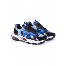"Basket Valentino ""Bounce"" camouflage bleu pour homme"