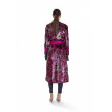 Robe portefeuille For Restless Sleepers Rose et rouge