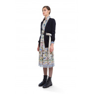 Cardigan long Red Valentino, noir, manches longues