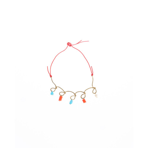 Achat Collier Marni corail et turquoise - Jacques-loup