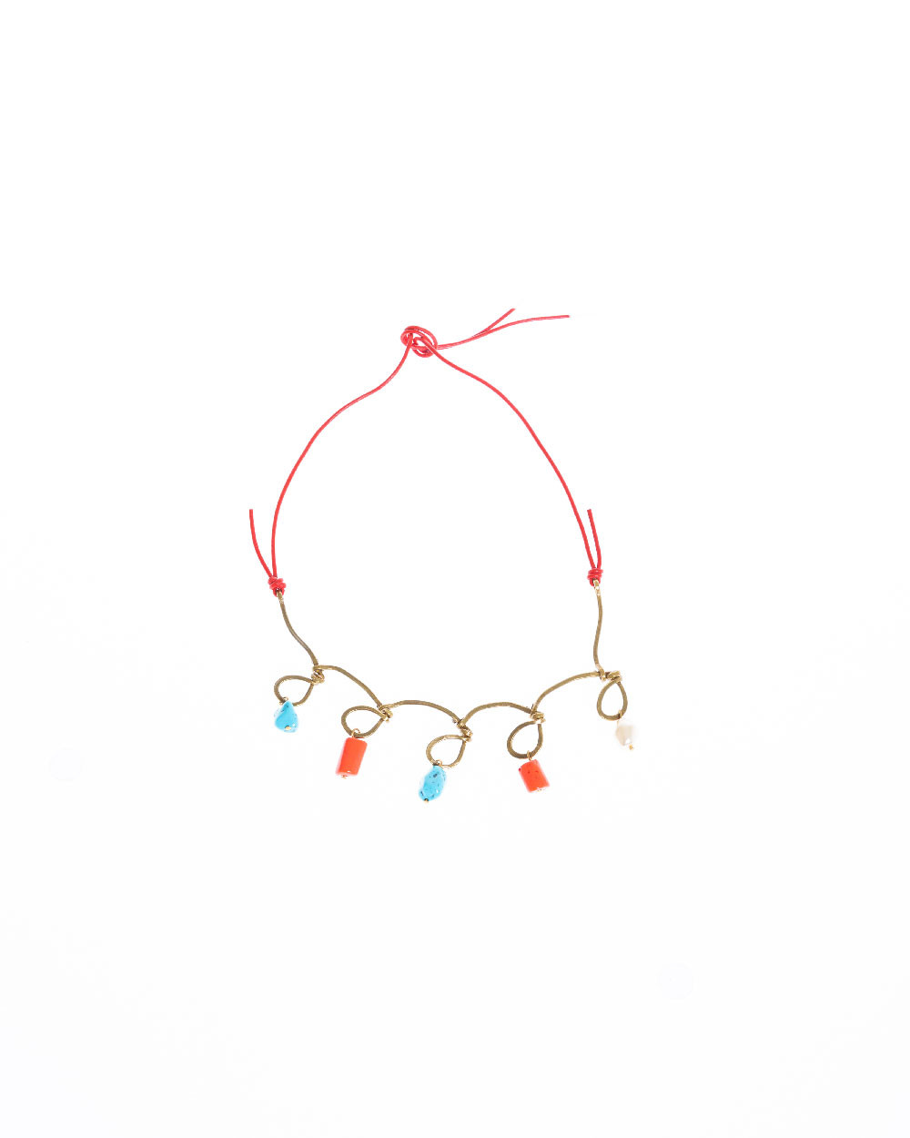 Collier Marni corail et turquoise