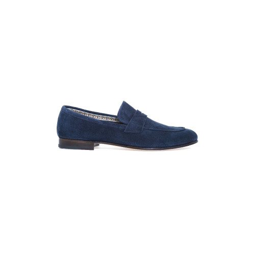 Achat Moccasins Fratelli Rossetti navy blue with strap for men - Jacques-loup
