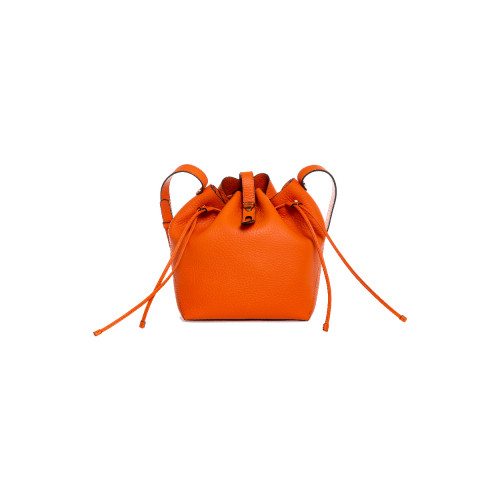 Orange bucket bag...