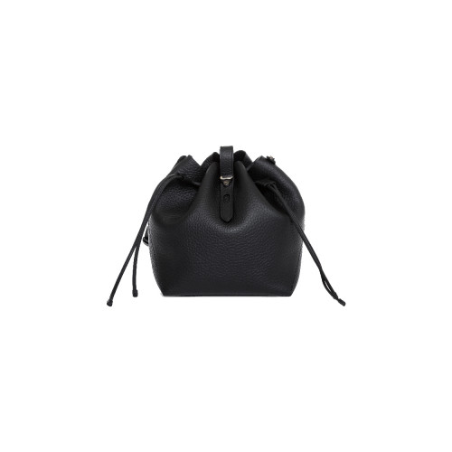 Black bucket bag...