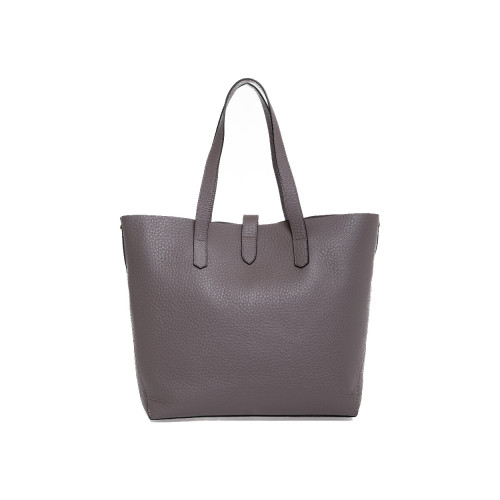 Taupe colored shopping bag...