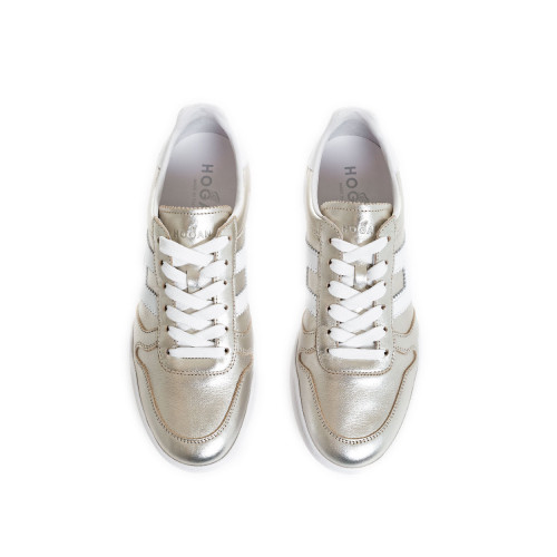 "Sneakers Hogan ""Retro-Volley"" light gold for women"