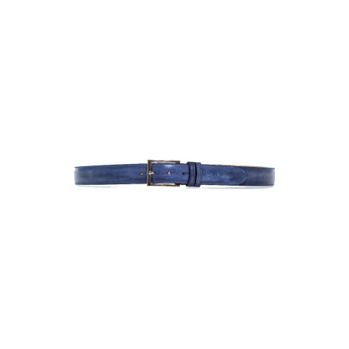 Navy blue patina belt...