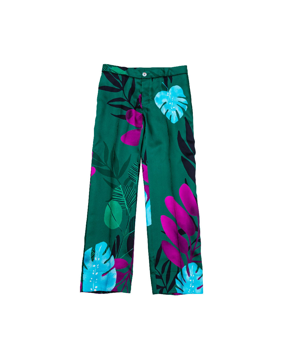 Green shirt and trousers Stella Jean for women