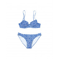 Achat Ivory two-pieces swimsuit with blue print Push Up Tory Burch for women - Jacques-loup