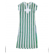 Ivory caftan with grey and green stripes Tory Burch for women